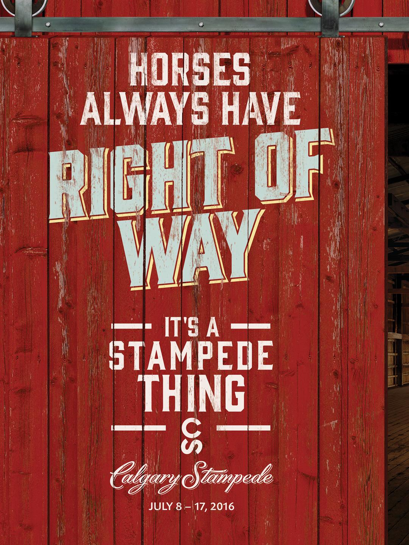 Behind Calgary Stampede: It's a Stampede Thing | C&B Advertising