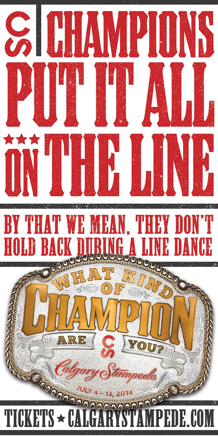 Behind Calgary Stampede: Champions | C&B Advertising